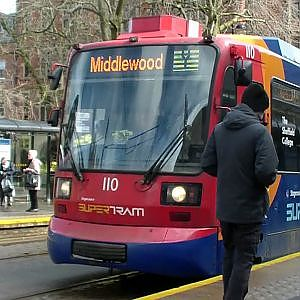 Sheffield Supertram   Cathedral - YouTube