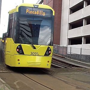 Manchester Metrolink   Exchange Quay - YouTube